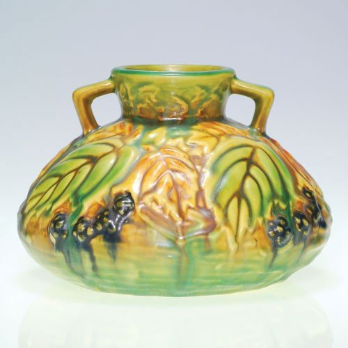 Roseville Blackberry vase, shape 568-4""