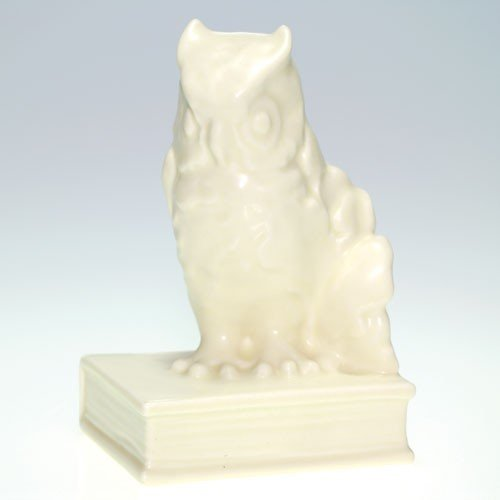 Rookwood single Owl bookend, #2655, 1935, Ivory Mat