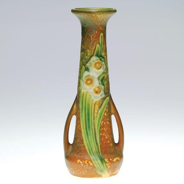 """8: Roseville Jonquil 6 7/8"""" bud vase"""