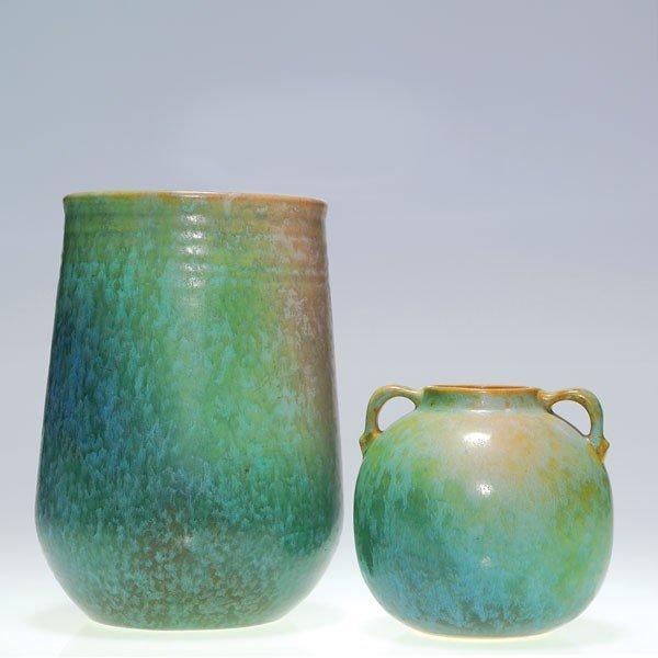 """9: Two Roseville Earlham vases, 520-8"""" & 516-4"""""""