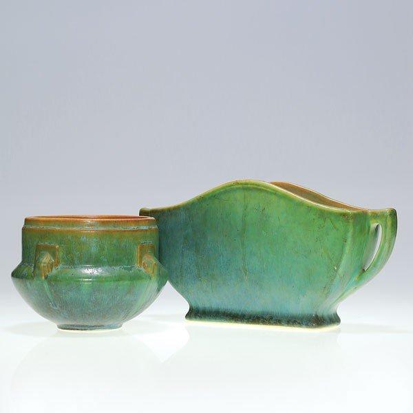 10: 2 Roseville items:  Earlham & Artcraft