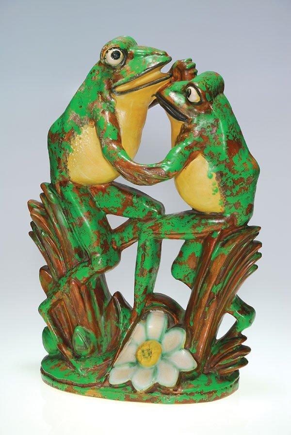 """71: Weller 17"""" Coppertone Dancing Frogs"""