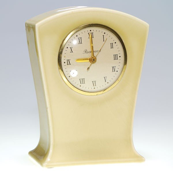 "1004: Rookwood production 7 1/2"" clock, gloss tan"