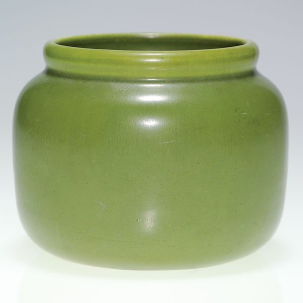 "1007: Rookwood green mat 3 1/2"" vase, 1921, shape 966"