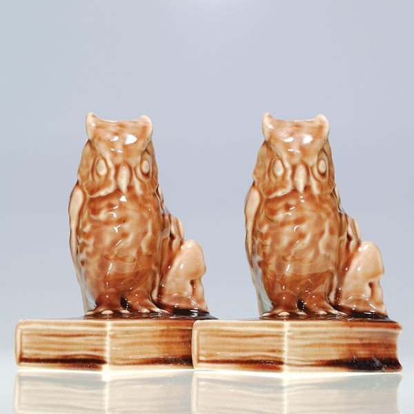 "1014: Rookwood pair 5 1/2"" Owl bookends, #2655"