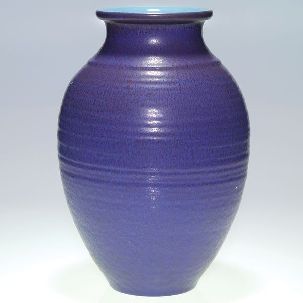 "1020: Rookwood mat production 12 3/4"" vase, purple"
