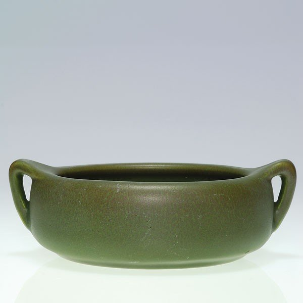 "1023: Rookwood mat bowl, 1915, shape 2178 D, 2"" X 7""."