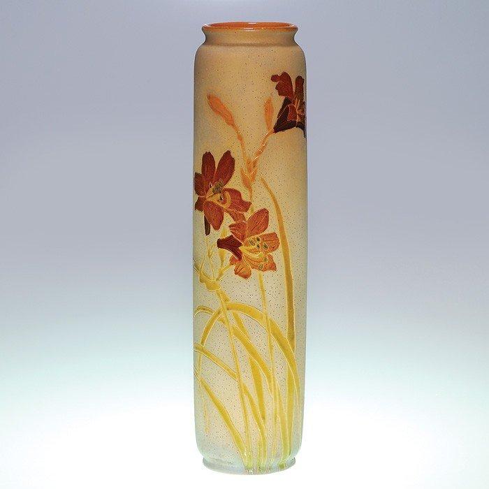 "22: Tall Roseville Woodland vase, 14 3/4"""