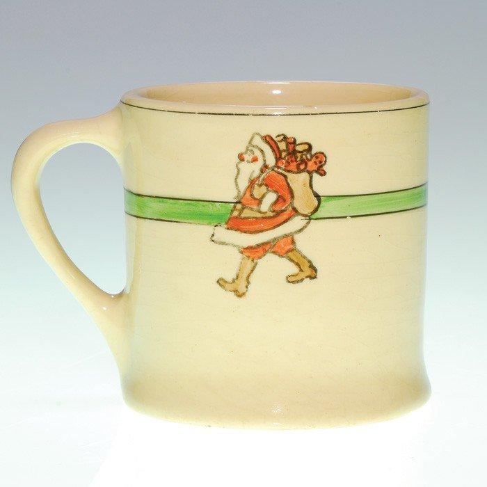 """23: Roseville Juvenile """"Santa"""" 3"""" mug"""