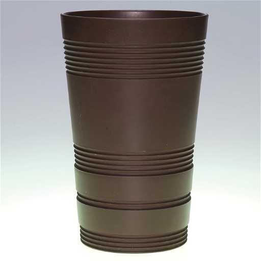 397 Wedgwood Keith Murray Vase Bronze Black Basalt