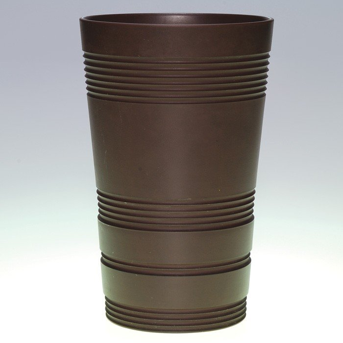 397: Wedgwood Keith Murray vase, Bronze Black Basalt
