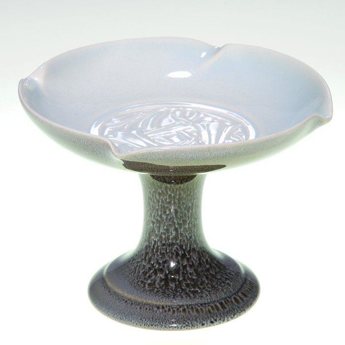 1014: Rookwood production compote, #7140, Violet Gray
