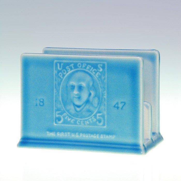 """1019: Rookwood 3"""" Letter Holder, first U.S. stamp, 1956"""