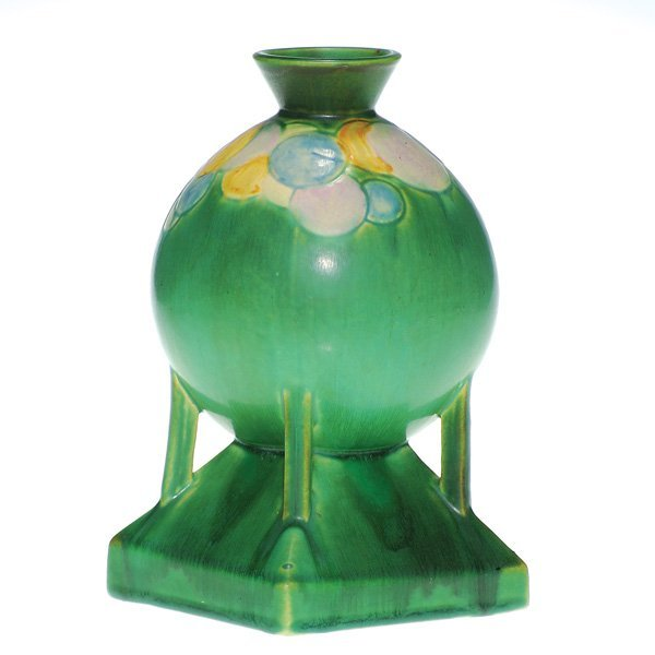 """0029: Roseville Futura 8 3/8"""" """"The Balloons Globe"""" vase"""