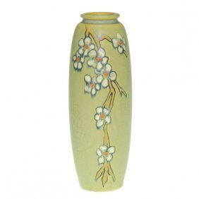 Weller Etched Matt 7 5/8� Vase, Small Flowers