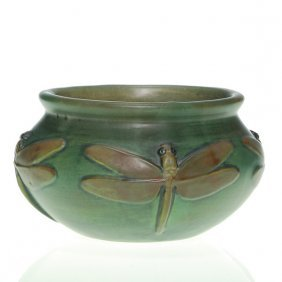 Weller Kenova Bowl, 4 Dragonflies, Great Detail,