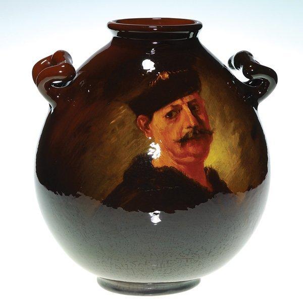 0149: Owens Utopian vase, after Rembrandt, A.F. Best
