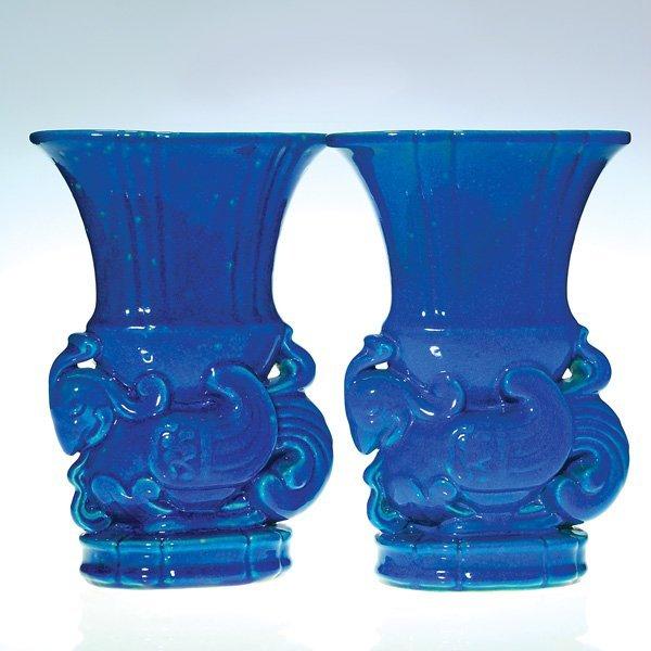 "0155: Cowan 2 ""Chinese Bird Vases"", 11 1/4"""