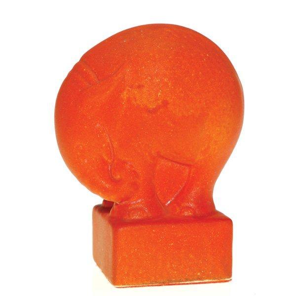 """0156: Cowan elephant, Oriental Red glaze, 4 5/8"""""""