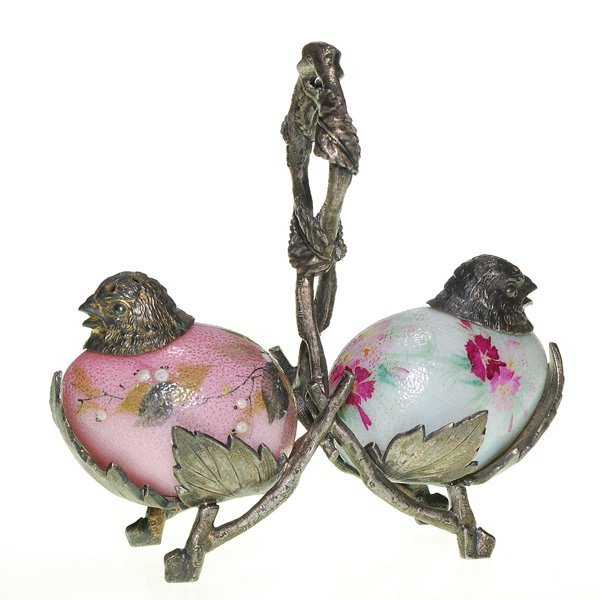 """0549: Mt Washington """"Chick Head"""" shakers, floral"""