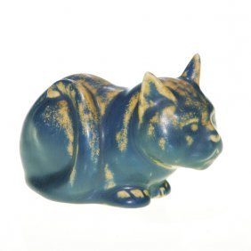 1007: Rookwood Cat paperweight, #6065, 1928, 2 1/2""