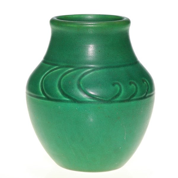 1010: Rookwood Hand Incised Z line vase, 1903, 5 1/8""