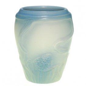 Rare Rookwood Carved Vellum Vase, Pine Cones, JDW