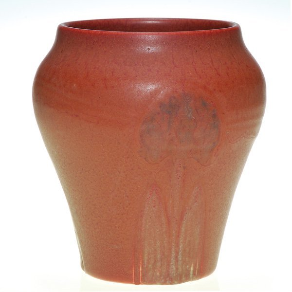 "1022: Rookwood Ombroso vase, carved, Hentschel, 6 1/8"""