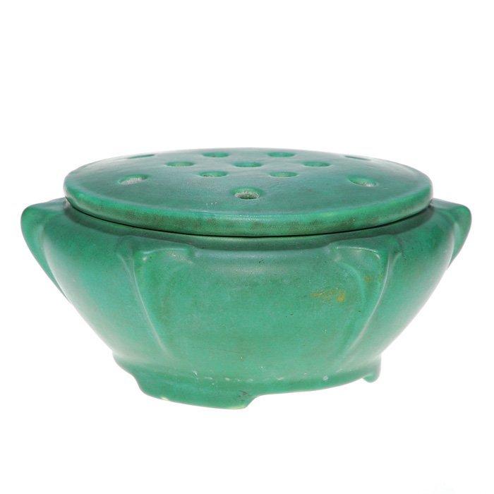 0013: Roseville bowl and flower frog cover, Matt Green