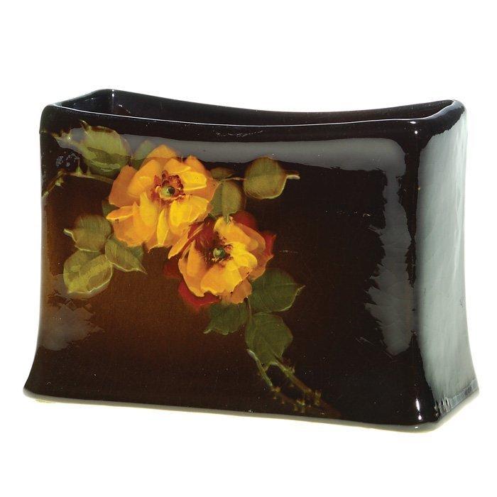 0022: Roseville Rozane Dark letter holder, Steele