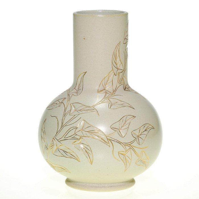 "1010: Rookwood Dull Finish 7"" vase, Wenderoth, carved"