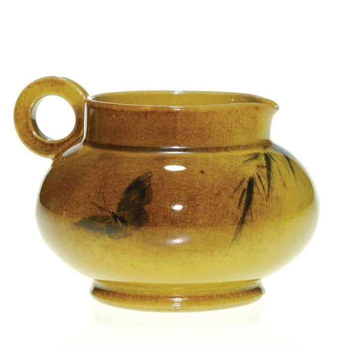 """1011: Rookwood Standard 3"""" pitcher, butterfly, Rettig"""