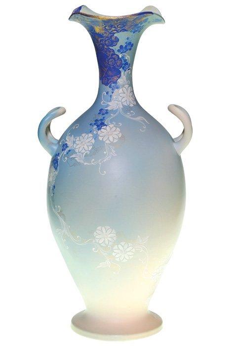 1013: Large Rookwood Dull Finish vase, floral, KS