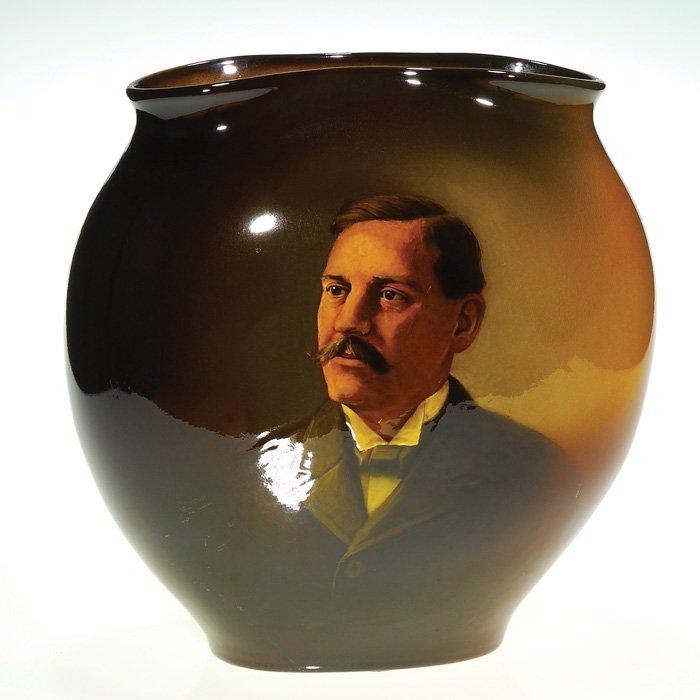 """1016: Rookwood portrait 11 5/8"""" vase, WPMcD, '97"""