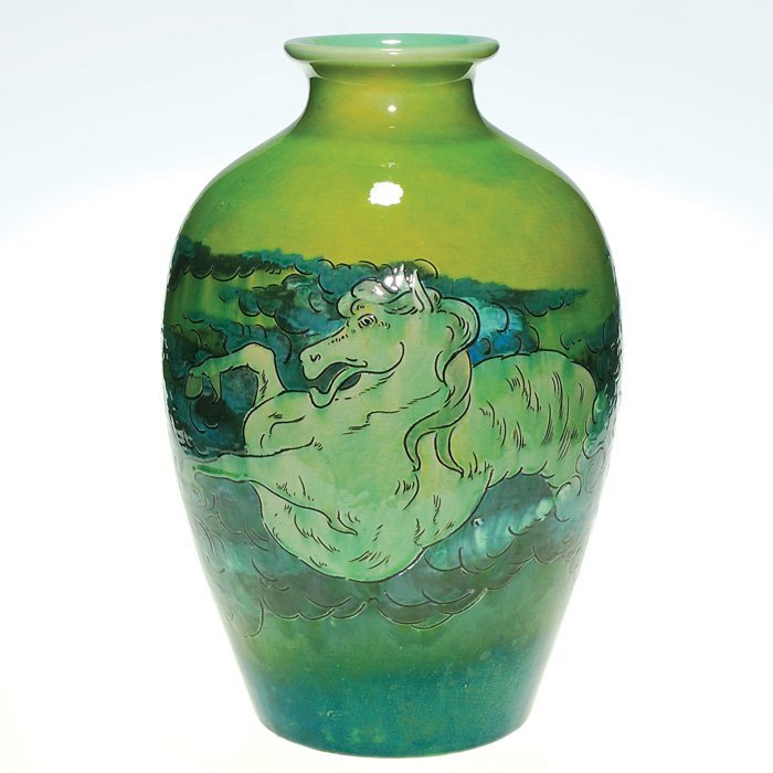 1018: Cincinnati vase, dragon-horse,  unknown origin