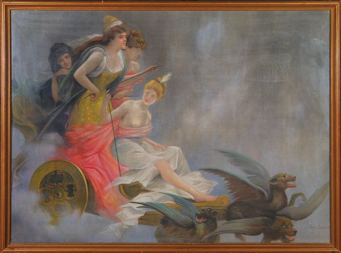 1020: Large oil painting by Karl Kappes, Allegorical
