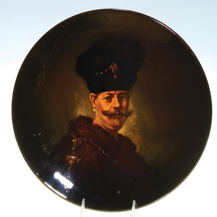 1022: Rookwood Standard charger, after Rembrandt