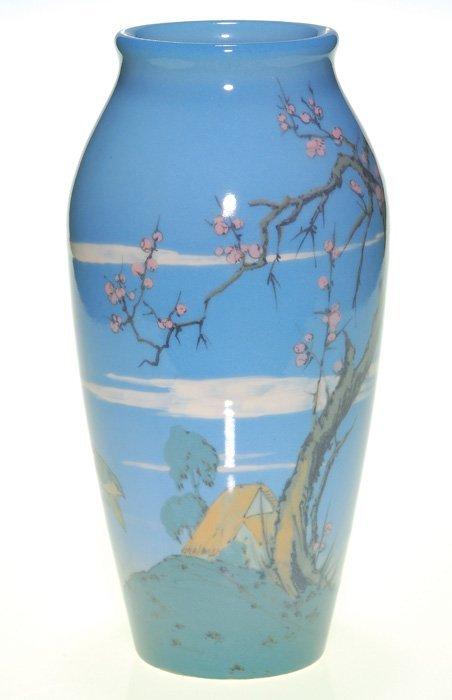 "1430: Rare Rookwood Porcelain 10 1/2"" scenic, Conant"