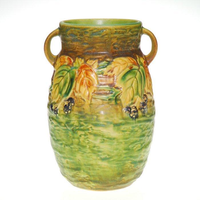 """Roseville Blackberry vase, sticker, 576-8"""", 8 1/4"""""""