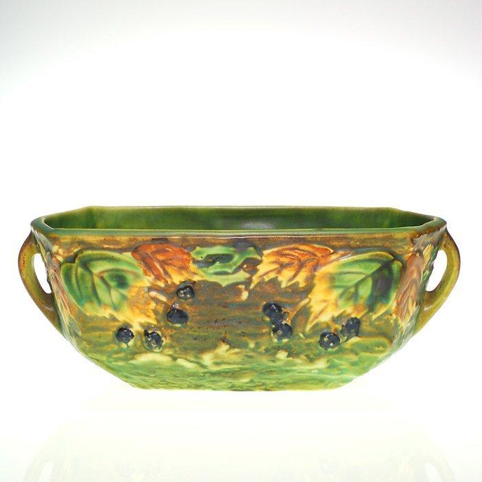 """Roseville Blackberry faceted bowl, 3 3/4"""""""