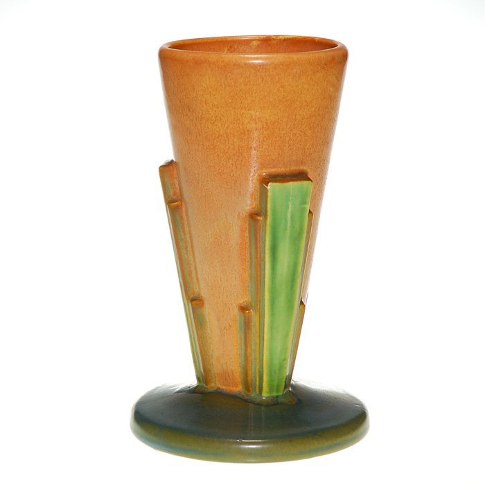 "Roseville Futura ""Cone"" vase, shape 401-8"""