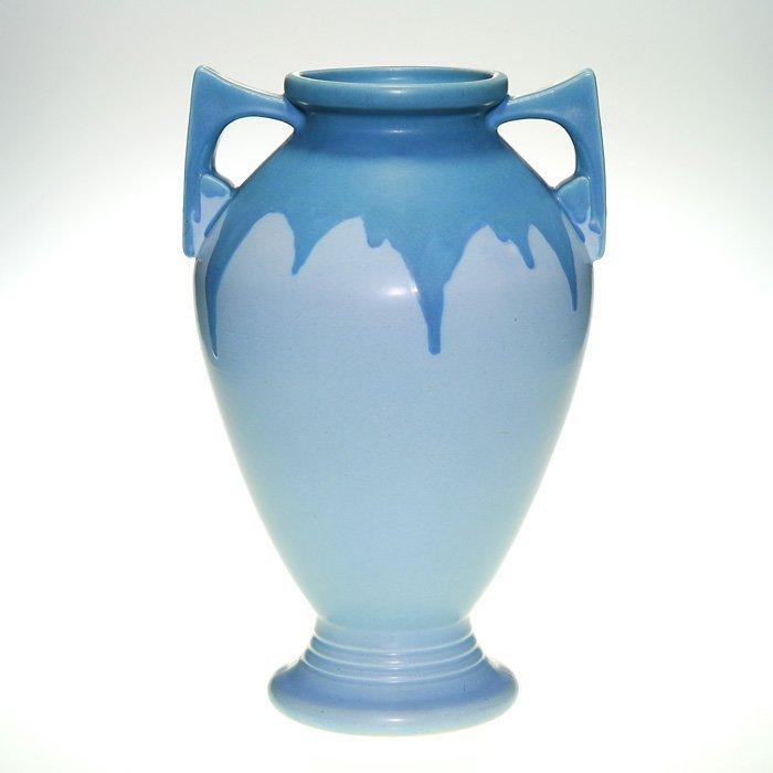 "Roseville Carnelian I vase, 339-15"", blue/blue"