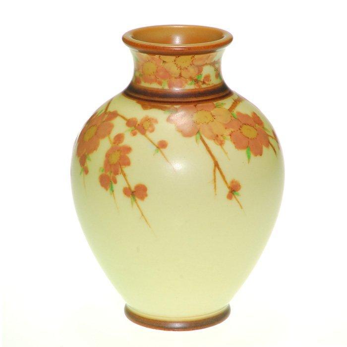 "Rookwood Yellow Vellum vase, Asbury, 1931, 6 1/2"""