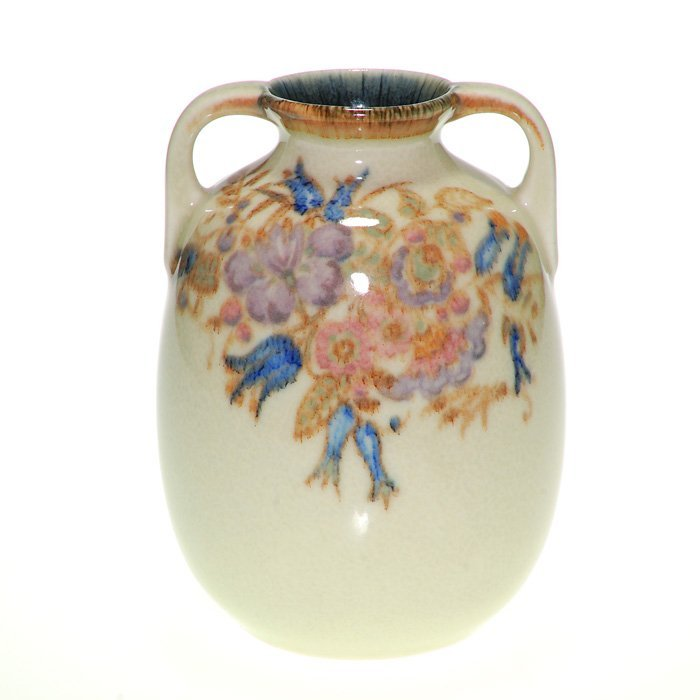 """Rookwood porcelain vase, floral, Epply 1927, 6 1/4"""""""
