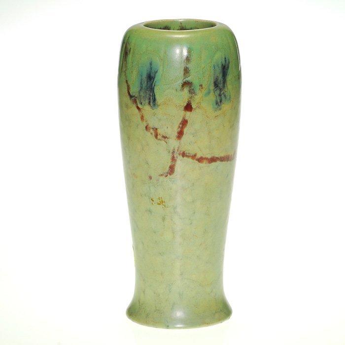 """Rookwood vase, floral, Todd, 8 7/8"""""""