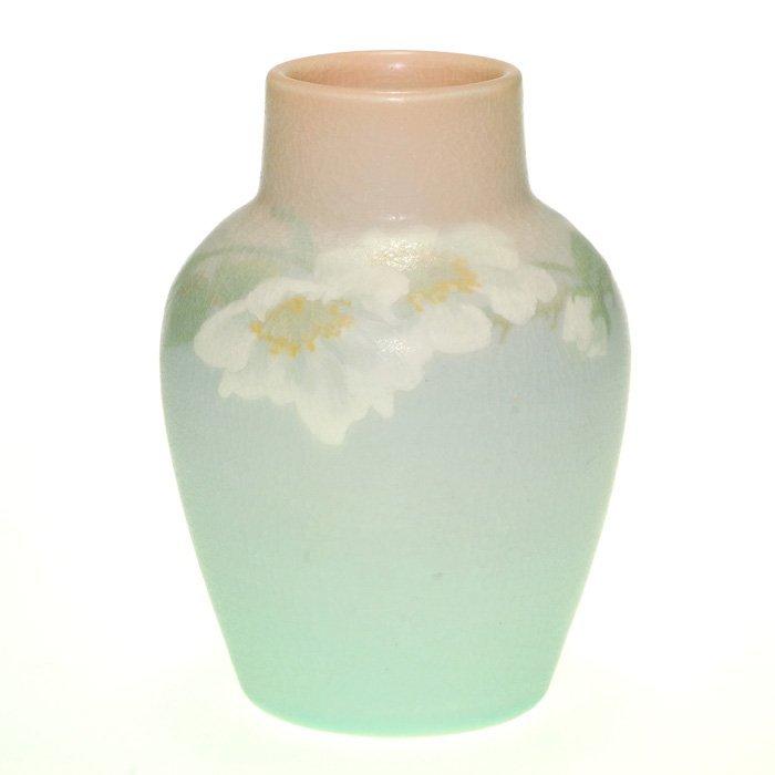 "Rookwood Epply vellum floral, 1908, 5 1/2"""