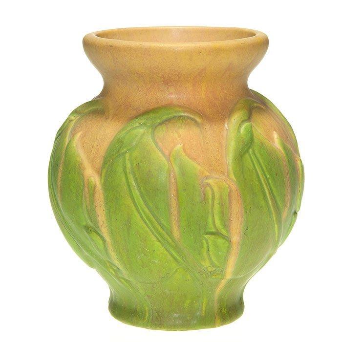 """Roseville Early Velmoss vase, 8"""""""