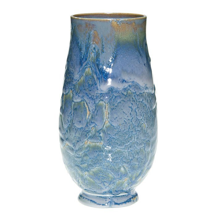 Rookwood vista blue, lamp vase, 1951, 10""