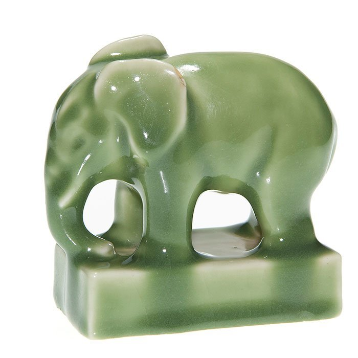 Rookwood elephant paperweight, 6488, 1945, 3 3/4""