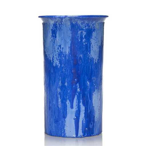 Late Fulper Vase Blue Snowflake Glaze 9 34